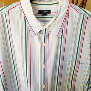 J. CREW Stripe Cool Cotton Button Shirt